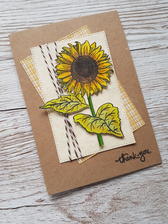 Ginger Ninja Crafts Sunflower Card