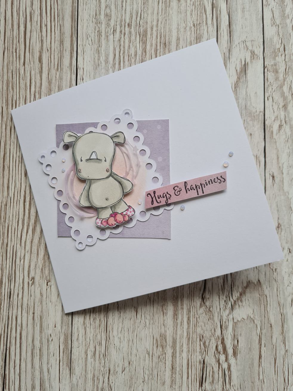 Tracey Hey Rhino Pals Card Ginger Ninja Crafts